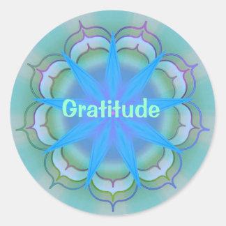 Gratitude (Virtue sticker) Round Sticker