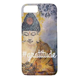 #Gratitude Zen Buddha Watercolor Art Phone Case