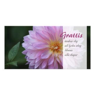 Grattis Önskar dig all lycka idag CC0768 Photo Greeting Card