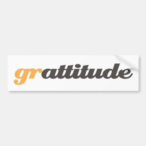 grattitude bumper sticker