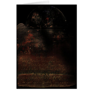 Grave Stone Halloween Greeting Card