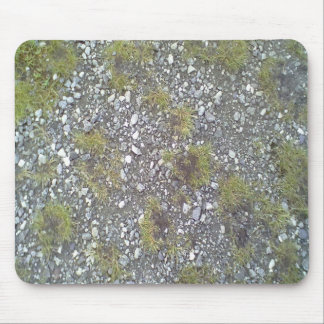 Gravel and grass mouse pad