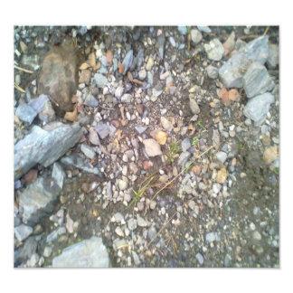 gravel and stone photo print