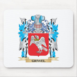 Gravel Coat of Arms - Family Crest Mousepads
