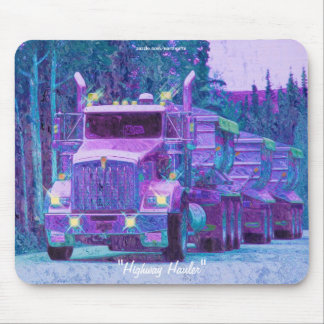Gravel Hauling Truck Highway Driving Art Mousepad