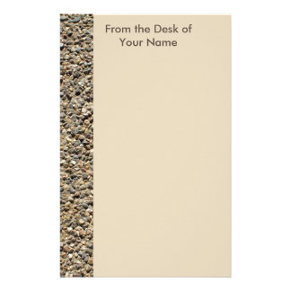 Gravel & Sand Photo Personalizable Personalized Stationery