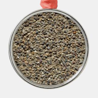 Gravel & Sand Photo Silver-Colored Round Decoration