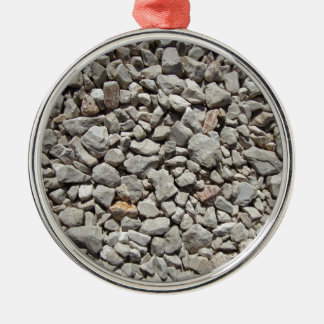 Gravel Silver-Colored Round Decoration