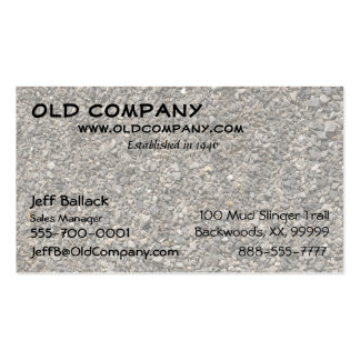 Gravel Texture Pack Of Standard Business Cards