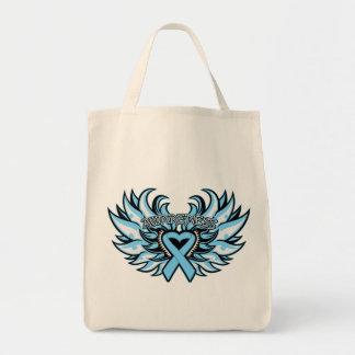 Graves Disease Awareness Heart Wings.png Grocery Tote Bag