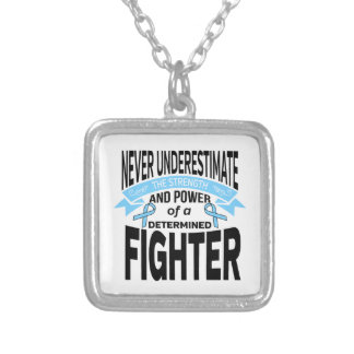 Graves Disease Determined Fighter Square Pendant Necklace