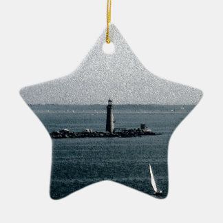 Graves Light in Boston Harbor Christmas Ornament