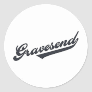 Gravesend Round Stickers