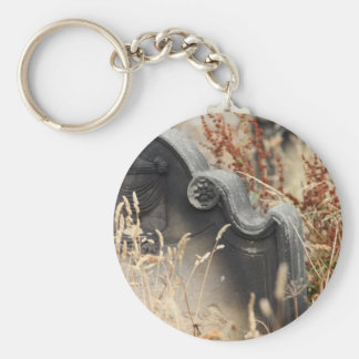 Gravestone Basic Round Button Key Ring