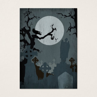 Graveyard and Full Moon for Halloween