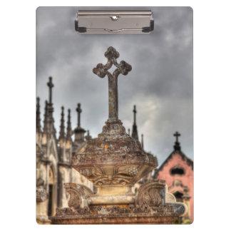 Graveyard cross close-up, Portugal Clipboard