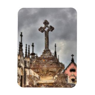 Graveyard cross close-up, Portugal Magnet
