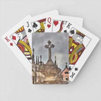 Graveyard cross close-up, Portugal Playing Cards