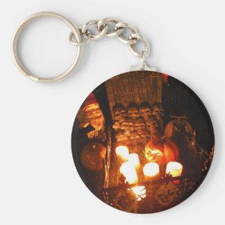 Graveyard Gnome I Basic Round Button Key Ring