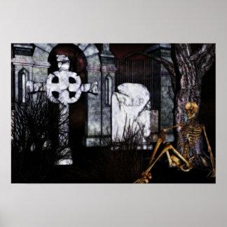 graveyard Halloween Poster