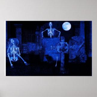 graveyard party halloween Poster
