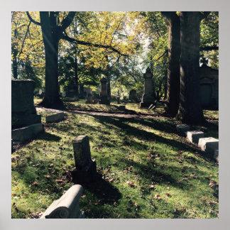Graveyard Scene Poster