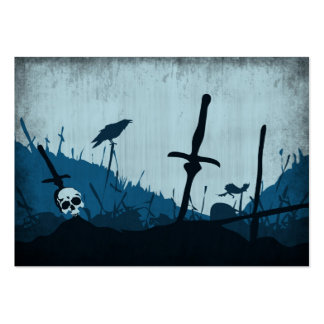 Graveyard with Skulls and Ravens Pack Of Chubby Business Cards