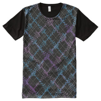 Gravitational Waves Tee Panel Front All-Over Print T-Shirt