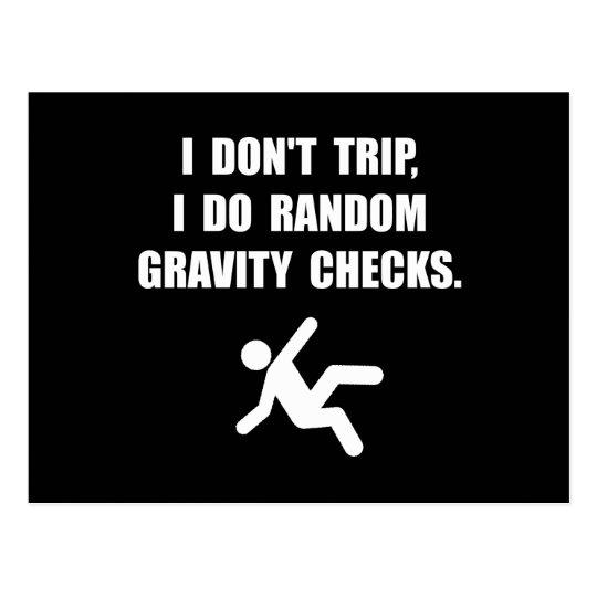 Gravity Checks Postcard