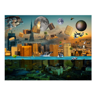 Gravity Confusion City Under Siege Postcard