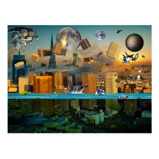 Gravity Confusion City Under Siege Post Card