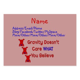 Gravity Doesn t Care Business Card Templates