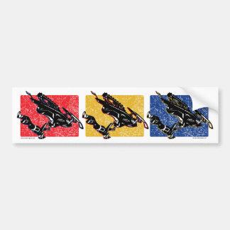 GRAVITY-SLED-in-three-color Bumper Sticker