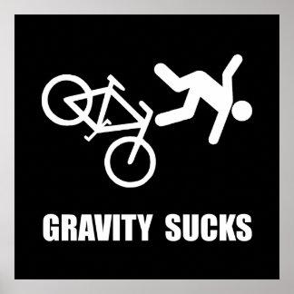 Gravity Sucks Bike Poster