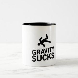 Gravity Sucks Two-Tone Coffee Mug