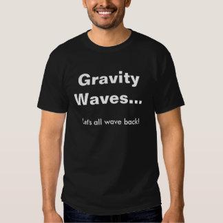 Gravity waves - wave back shirt dark