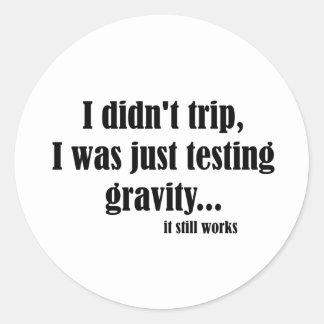 Gravity Works Round Sticker