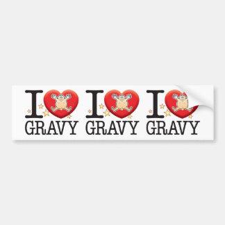 Gravy Love Man Bumper Sticker