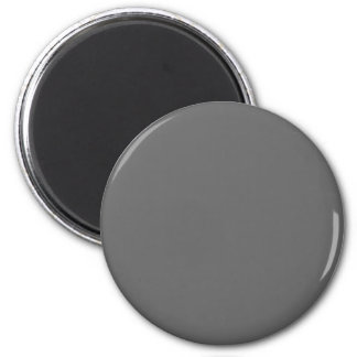 Gray #666666 Solid Color 6 Cm Round Magnet