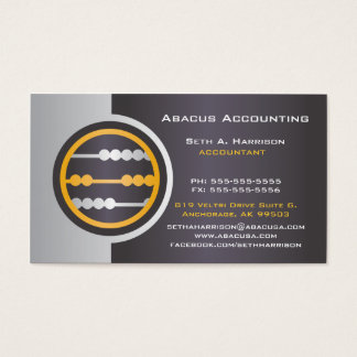 Gray Abacus Accounting Business Cards