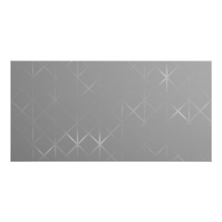 Gray Abstract. Misty Grid Design Background. Customized Photo Card