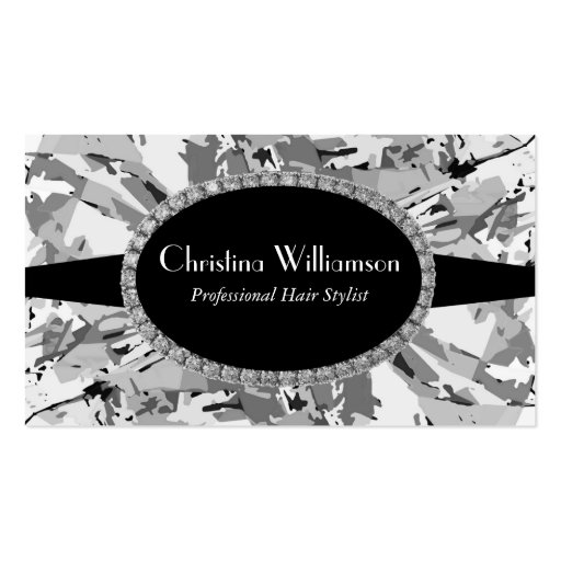 Gray Abstract Rhinestones Business Card Templates
