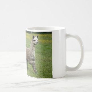 Gray Alpacas Running Coffee Mug