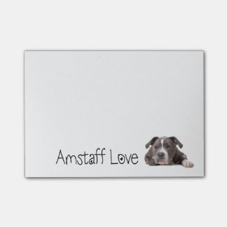 Gray American Staffordshire Terrier Dog - Amstaff Post-it Notes