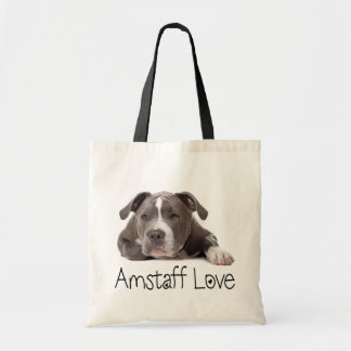 Gray American Staffordshire Terrier Dog - Amstaff Tote Bag
