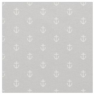Gray Anchor Print Fabric