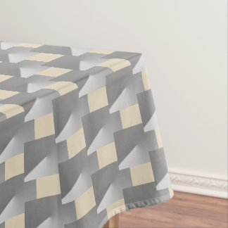 Gray and beige geometric Xmas tablecloth. Tablecloth