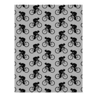 Gray and Black Bicycle Pattern Flyers