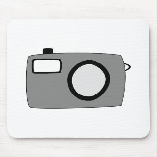 Gray and Black Camera. On White. Mouse Mat