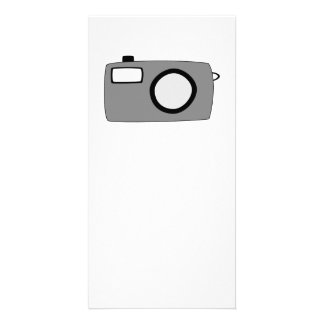 Gray and Black Camera On White Photo Greeting Card